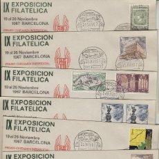 Sellos: 1967 BARCELONA IX EXPOSICION FILAT GRUPO SEAT , MATASELLOS CALENDARIO . SOBRE. Lote 214256963