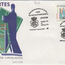 Francobolli: 1999. ED 3644 DEPORTES , FUTBOL REAL CLUB RECREATIVO DE HUELVA . SOBRE PRIMER DIA SPD. Lote 214385930