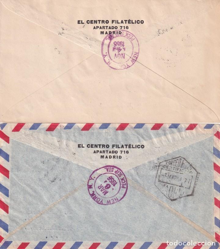 Sellos: AVION SUPER CONSTELLATION Y NAO SANTA MARIA 1955 1956 (EDIFIL 1169/79) DOS RAROS SPD CIRCULADOS. MPM - Foto 2 - 214579315