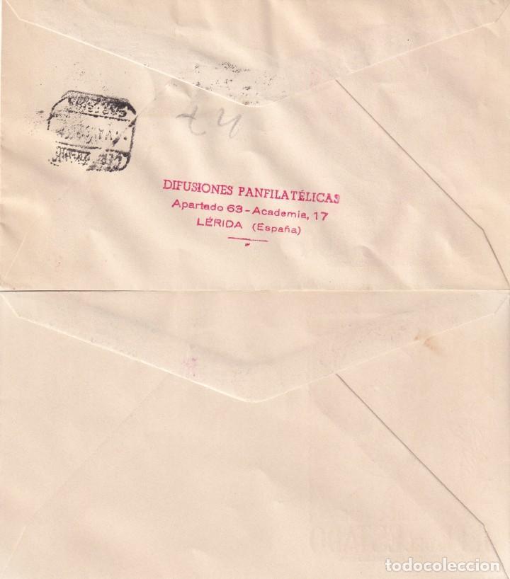 Sellos: GENERAL FRANCO 1955 1956 (EDIFIL 1143/63) EN CINCO SOBRES PRIMER DIA ILUSTRADOS BONITOS Y RAROS. MPM - Foto 4 - 214580202
