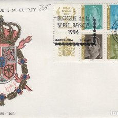 Timbres: 1994 .ED 3305/8 SERIE BÁSICA DEL REY , .SOBRE PRIMER DIA SPD. Lote 214713927
