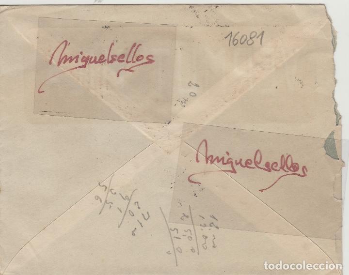 Sellos: SOBRE COMERCIAL -BODEGAS SAN MIGUEL VERMUT MILA , HIJOS P. VELA 1944 QUINTANAR DE LA ORDEN (TOLEDO) - Foto 2 - 214807073