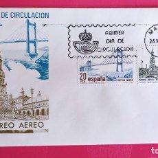 Sellos: CORREO AEREO 1981 SFC A.570 ESPAÑA SOBRE PRIMER DIA CIRCULACION. Lote 214835383