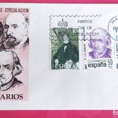 Sellos: CENTENARIOS 1982 SFC A.577 ESPAÑA SOBRE PRIMER DIA CIRCULACION. Lote 214836806