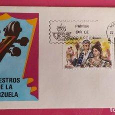 Sellos: MAESTROS DE LA ZARZUELA 1983 SFC A. 598 ESPAÑA SOBRE PRIMER DIA CIRCULACION. Lote 215021621