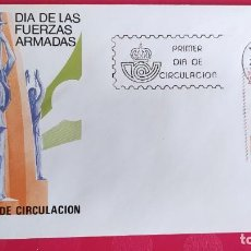 Sellos: DIA DE LAS FUERZAS ARMADAS 1983 SFC A. 602 BIS ESPAÑA SOBRE PRIMER DIA CIRCULACION. Lote 215023672
