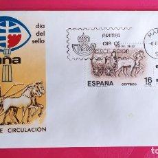 Sellos: DIA DEL SELLO ESPAÑA 84 1983 SFC A. 607 ESPAÑA SOBRE PRIMER DIA CIRCULACION. Lote 215026092