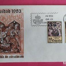 Sellos: NAVIDAD 1983 SFC A. 612 ESPAÑA SOBRE PRIMER DIA CIRCULACION. Lote 215028908