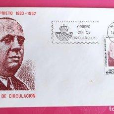 Sellos: CENTENARIO INDALECIO PRIETO 1983 SFC A. 613 ESPAÑA SOBRE PRIMER DIA CIRCULACION. Lote 215029111