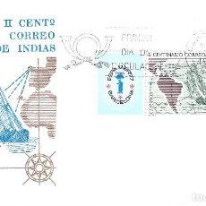Sellos: EDIFIL 2437 CORREO DE INDIAS. ESPAMER'77. SOBRE PRIMER DÍA DE CIRCULACIÓN 7-10-1977. S.F.C. A 489.. Lote 215314186