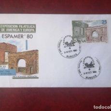 Sellos: ESPAMER-80 EXPOSICIÓN FILATELICA PROVINCIAL, BURGOS 1980. MATASELLOS EN SOBRE ILUSTRADO.. Lote 215377851