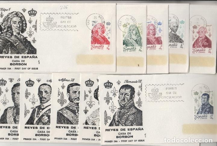 1978. ED 2496/505 REYES DE ESPAÑA CASA BORBÓN . SOBRE PRIMER DIA ALFIL (Sellos - Historia Postal - Sello Español - Sobres Primer Día y Matasellos Especiales)