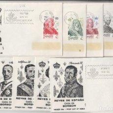 Sellos: 1978. ED 2496/505 REYES DE ESPAÑA CASA BORBÓN . SOBRE PRIMER DIA ALFIL. Lote 215782657