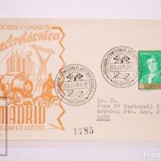 Selos: MATASELLOS CONMEMORATIVOS:TEMATICA: ELETRICIDAD,REUNION COMISION ELECTROTECNICA MADRID 30 JUNIO 1959. Lote 215910052