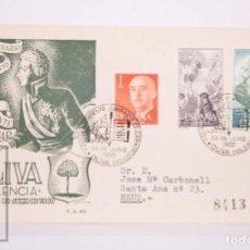 Selos: MATASELLOS CONMEMORATIVOS:TEMATICA: MILITARIA,BARCOS, OLIVA (VALENCIA)24-JUNIO 1960,CIRCULADO. Lote 215910486