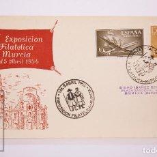 Selos: MATASELLOS CONMEMORATIVOS:TEMATICA: TRAJES TIPICOS,EXPOSICION FILATELICA,1-ABR-56,MURCIA. Lote 216684167