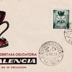 Sellos: PLAN SUR DE VALENCIA 1968 EL SANTO GRIAL (EDIFIL 6) EN SOBRE PRIMER DIA DE MUNDO FILATELICO RARO ASI. Lote 218190451