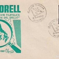 Sellos: DIA DEL SELLO EXPOSICION, VENDRELL (TARRAGONA) 1963. MATASELLOS PALOMA EN SOBRE EO NUMERADO RARO ASI. Lote 218192352