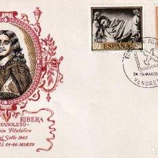 Sellos: DIA DEL SELLO EXPOSICION, VENDRELL (TARRAGONA) 1963. MATASELLOS PALOMA SOBRE SIN CIRCULAR ALFIL RARO. Lote 218192822
