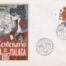 Sellos: REYES CATOLICOS INCORPORACION A CORONA CASTILLA V CENTENARIO, MALAGA 1987 MATASELLOS SOBRE ILUSTRADO. Lote 218335692