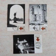 Sellos: 3 SELLOS Y FOTOS LLEIDA PRIMER DIA DE EMISION DE 5 PTAS. 1964. Lote 218400450