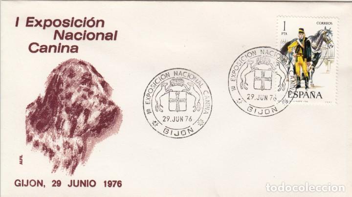 MATASELLOS EXPOSICION NACIONAL CANINA GIJON 1976 (Sellos - Historia Postal - Sello Español - Sobres Primer Día y Matasellos Especiales)