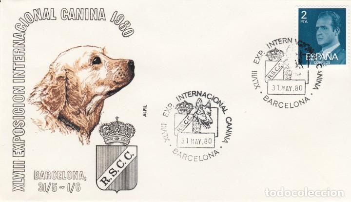 MATASELLOS EXP. INTERNACIONAL CANINA - BARCELONA 1980 (Sellos - Historia Postal - Sello Español - Sobres Primer Día y Matasellos Especiales)