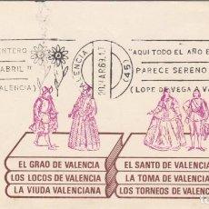 Sellos: MATASELLOS DE RODILLO - LOPE DE VEGA - VALENCIA 1969. Lote 218508370