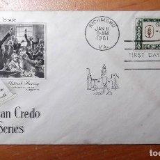 Sellos: SELLO Y SOBRE PRIMER DIA AÑO 1962. Lote 218518787