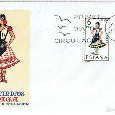 Sellos: EDIFIL 1905 TRAJES TIPICOS REGIONALES MALAGA. SOBRE Y SELLO PRIMER DIA CIRCULACIÓN. Lote 218547393