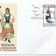 Sellos: EDIFIL 1953 TRAJES TIPICOS REGIONALES STA CRUZ TENERIFE. SOBRE Y SELLO PRIMER DIA CIRCULACIÓN. Lote 218547423