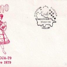 Sellos: VIRGEN MARIA BIMILENARIO EXPOFIL RIOJA 79, LOGROÑO 10 OCTUBRE 1979. RARO MATASELLOS EN SOBRE ALFIL.. Lote 218619687