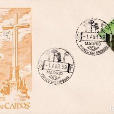 Sellos: INAUGURACION MONASTERIO VALLE DE LOS CAIDOS 1959 (EDIFIL 1248) SPD SIN CIRCULAR SERVICIO FILATELICO.. Lote 218626127