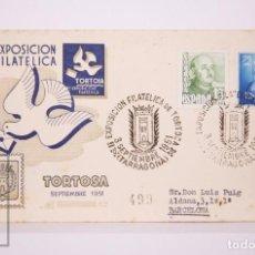 Selos: MATASELLOS CONMEMORATIVO,EXPOSICIÓN FILATELICA TORTOSA 3-SEP.-1951,CIRCULADO. Lote 218679698