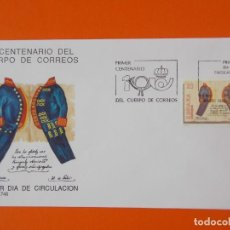 Sellos: PRIMER CENTENARIO DEL CUERPO DE CORREOS - 1989 - EDIFIL 2998 - SOBRE PRIMER DIA ... L1861. Lote 218680581
