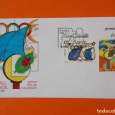 Sellos: DISEÑO INFANTIL - 1989 - EDIFIL 2986/87 - SERIE COMPLETA - SOBRE PRIMER DIA ... L1869. Lote 218690020