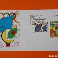 Sellos: DISEÑO INFANTIL - 1989 - EDIFIL 2986/87 - SERIE COMPLETA - SOBRE PRIMER DIA ... L1870. Lote 218690121