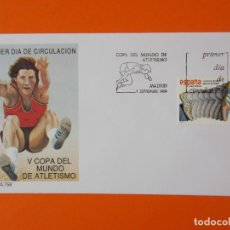 Sellos: V COPA DEL MUNDO DE ATLETISMO - 1989 - EDIFIL 3023 - SOBRE PRIMER DIA ... L1873. Lote 218758461