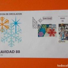 Sellos: NAVIDAD 88 - 1988 - EDIFIL 2976/77 - SERIE COMPLETA - SOBRE PRIMER DIA ... L1874. Lote 218758581