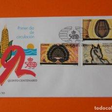 Sellos: V CENTENARIO DEL DESCUBRIMIENTO DE AMERICA - 1989 - EDIFIL 3030/32/34 - SOBRE PRIMER DIA.. L1882. Lote 218760672