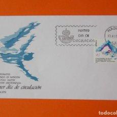 Sellos: V CAMPEONATOS DEL MUNDO DE NATACIÓN WATER-LO - 1986 - EDIFIL 2852 - SOBRE PRIMER DIA... L1885. Lote 218761213