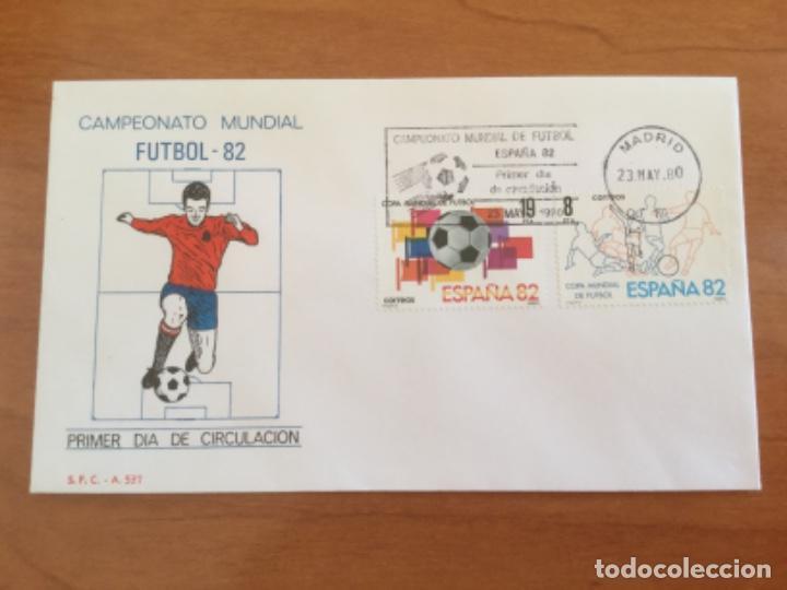 ESPAÑA 1980 SOBRE PRIMER DÍA. CAMPEONATO MUNDIAL FUTBOL 82 (Sellos - Historia Postal - Sello Español - Sobres Primer Día y Matasellos Especiales)
