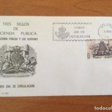 Sellos: ESPAÑA 1980 SOBRE PRIMER DÍA. TRES SIGLOS DE HACIENDA PUBLICA. Lote 218774490