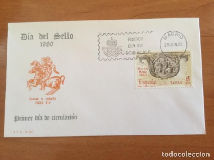 ESPAÑA 1980 SOBRE PRIMER DÍA. DÍA DEL SELLO 1980 (Sellos - Historia Postal - Sello Español - Sobres Primer Día y Matasellos Especiales)