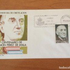 Sellos: ESPAÑA 1980 SOBRE PRIMER DÍA. CENTENARIO DE RAMON PEREZ DE AYALA. Lote 218775635