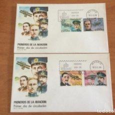 Sellos: ESPAÑA 1980 SOBRE PRIMER DÍA. PIONEROS DE LA AVIACIÓN. Lote 218776873
