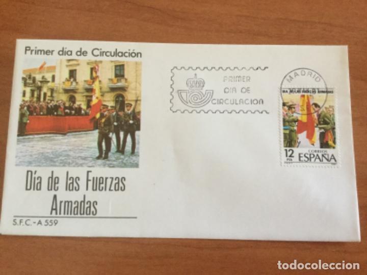 ESPAÑA 1981 SOBRE PRIMER DÍA. DÍA DE LAS FUERZAS ARMADAS (Sellos - Historia Postal - Sello Español - Sobres Primer Día y Matasellos Especiales)