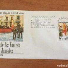 Sellos: ESPAÑA 1981 SOBRE PRIMER DÍA. DÍA DE LAS FUERZAS ARMADAS. Lote 218781320
