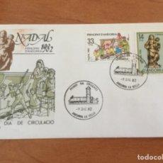 Sellos: ESPAÑA 1982 SOBRE PRIMER DÍA. NAVIDAD 1982 ANDORRA. Lote 218803833