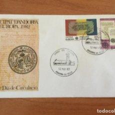 Sellos: ESPAÑA 1982 SOBRE PRIMER DÍA. EUROPA 1982 PRINCIPADO DE ANDORRA. Lote 218803971